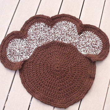 50% OFF Today Only 4/21 - Brown Crocheted Pet Bed