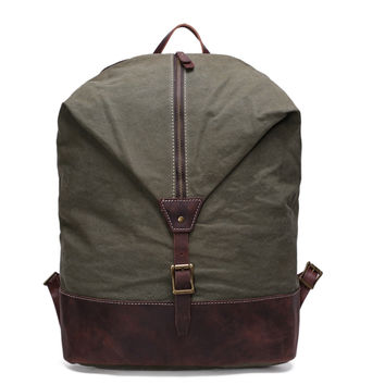 Whitfield – Leather & Waxed Canvas Backpack