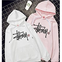 Stussy Fashion Print Hooded Top Sweater Hoodie