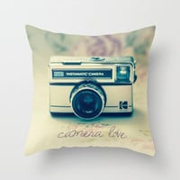 Camera Love  Throw Pillow by secretgardenphotography [Nicola]