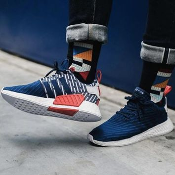 Boys & Men Adidas NMD R2 PK Boost Sneakers Sport Shoes
