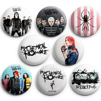 My Chemical Romance Pinback Buttons Badge 1.25 inches (Set of 8) NEW