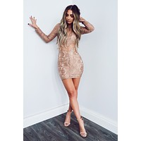 Looking Like A Dream Dress: Taupe/Nude