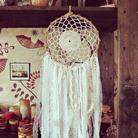 Bohemian Dreamcatcher - Gypsy Queen - White Boho Dreamcatcher - Bohemian Bedroom Decor - Gypsy Home Decor