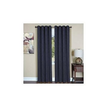 "Achim Austin Curtain Panel 52""X 84"" Navy"