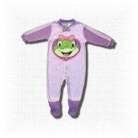 LeapFrog `Laughing Lilly` Purple Footed Blanket Sleeper for toddlers