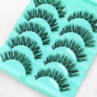 5 Pairs Curly Crisscross False Eyelash Thick Natural Handmade False Eyelash Set