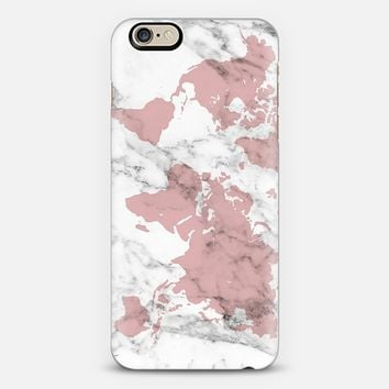 Marble World Map iPhone 6 case by BySamantha \ Samantha Ranlet | Casetify