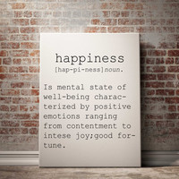 Definition of Happiness Funny wall art Typography Print Funny Poster Name Definition Instant Download Printable Art Minimalist Art Art Print