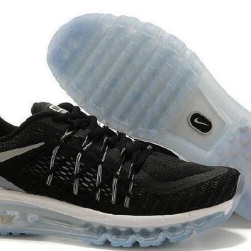 PEAPN Ready Stock Nike Air Max 2015 Running Shoes Black White Grey Sport Running Shoes
