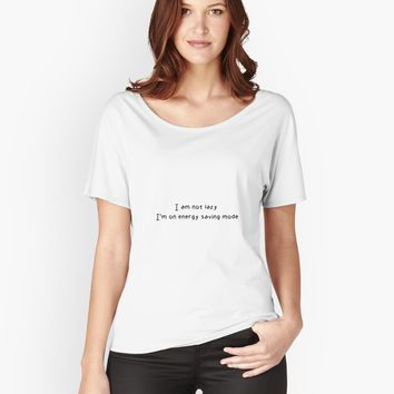 'I am not lazy. I'm on energy save mode' Women's Premium T-Shirt by vanessavolk