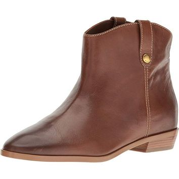 MICHAEL KORS Ashton Brown Leather Ankle Boots