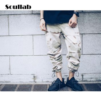 autumn new quality camo camouflage mens bottom baggy pants overall bag zipper casual trousers army hippie rapper simple outfit