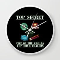 Five of The Worlds Top Drug Dealers Wall Clock by Lilbudscorner