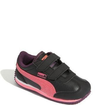 toddler girl s puma whirlwind glitter sneaker size 5 m black  number 1