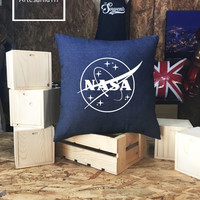 Nasa Meatball Pillow cover Jean cotton canvas, Cushion cover, pillow cover, small pillow case, 16x16 , canvas pillow cover