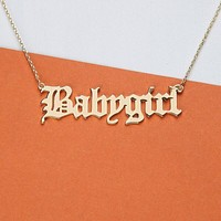 Babygirl Letter Necklace