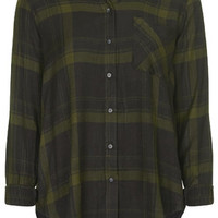 Checked Shirt - Olive