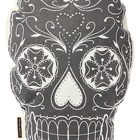 THE RISE AND FALL The Sugar Skull Pillow in White