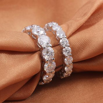 Luxury 10 Carat F Color Lab Grown Moissanite Engagement Band Wedding Ring
