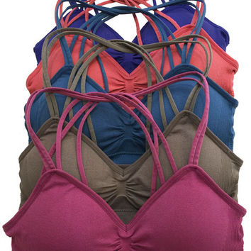 Strappy Sports Bra - Get Fit -Multiple Colors