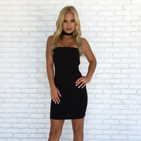 Making Music Bodycon Dress in Black