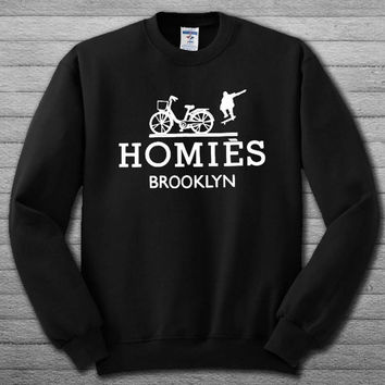 BTF Homies Brooklyn inspired logo parody Sweatshirt # For Women , Men  Sweatshirt