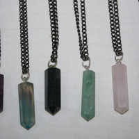 CRYSTAL POINT // necklace choose from assorted by californiagoths