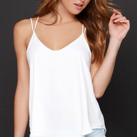 Fly By Birdie Ivory Tank Top