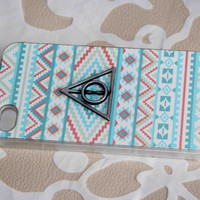 The Deathly Hallow Protective phone case Totem Triangle Hallows for iPhone 5 5s 4 4s hard case personalized best friend gifts