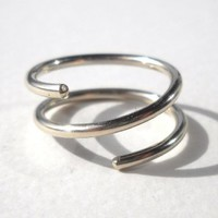 Silver Wire Twisted Ring size 4