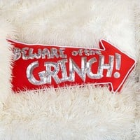 Beware Of Grinch™ Pillow