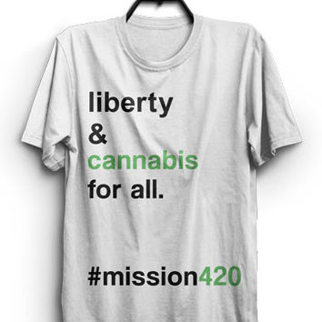 #mission 420 Liberty T (white)