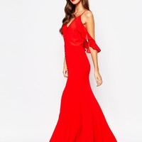 Jarlo Cora Cami Strap Maxi Dress With Frill Detail