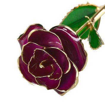 Gold-Dipped 24K Red Rose