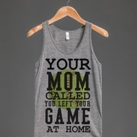 Mom called left your game at home Softball tank top tee t-shirt