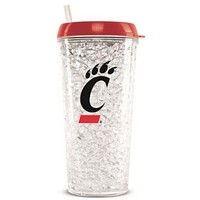 NCAA Cincinnati Bearcats Tumbler With Straw