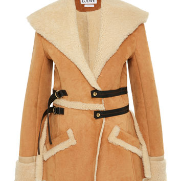 Belted Suede and Shearling Jacket | Moda Operandi