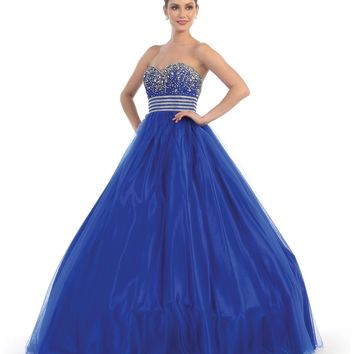 Long Quinceanera Formal Prom Dress