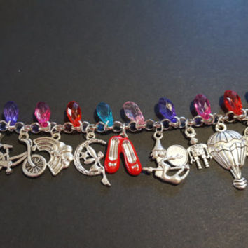 Wizard of oz themed charm bracelet