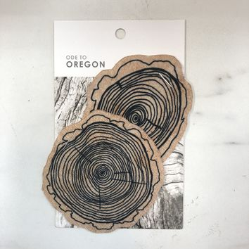 Oregon Series Tree Slices Iron On Patch