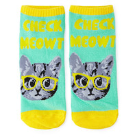 Check Meowt Graphic Socks