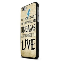 Harry Potter Dreams Quote Custom Case for Iphone 5/5s/6/6 Plus (Black iPhone 6)