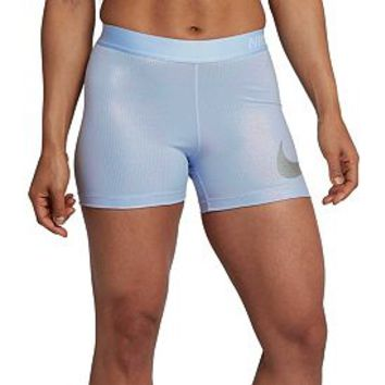 "Nike Women's Pro 3"" Metallic Baselayer Shorts 