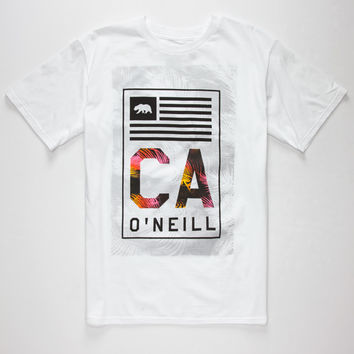 O'neill Signs Mens T-Shirt White  In Sizes