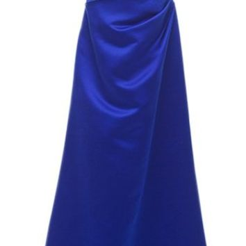 PrettyDresses Women's Spaghetti Straps Long Blue Prom Dresses Bridesmaid Dresses