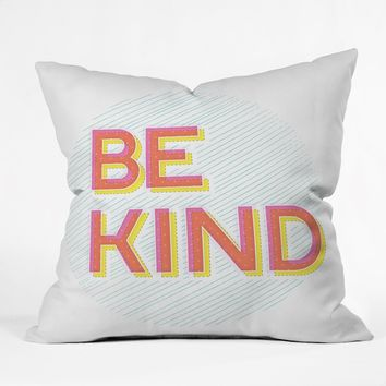 Gabi Be Kind Throw Pillow