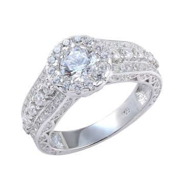Ship From US 2.68 Ct AAA CZ Rhodium Plated Fashion Wedding Ring For Women Trendy Jewelry Free Shipping