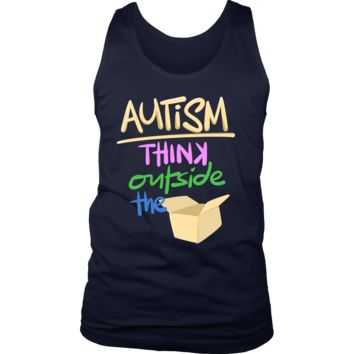 Think Outside The Box Autism Awareness tank