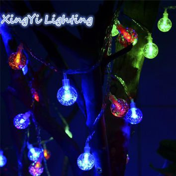 New Arrival 1x 3m 20 LED Pendant String Light Waterproof Crystal Balls Christmas Wedding Decoration Luminary Twinkle Strip